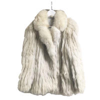 real fox fur coat ivory