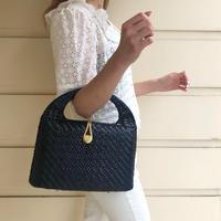 vintage basket bag navy