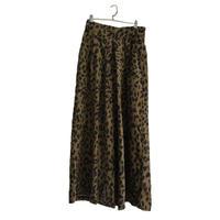 leopard corduroy wide pants