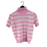 courréges border knit pink