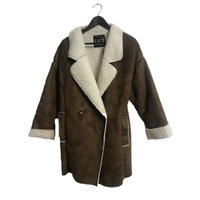 boa mouton coat brown