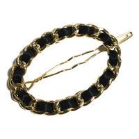 chain round hair clip