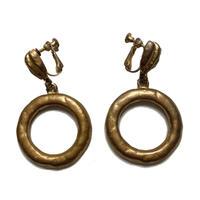 rétro gold hoop vintage earring(No.3448)