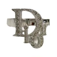 Dior logo stone design ring