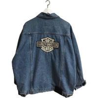 HARLEY DAVIDSON logo denim  jacket