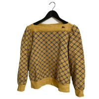 Burberry check tops mustard