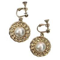 pearl chain earring