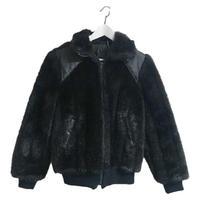 leather design fur coat