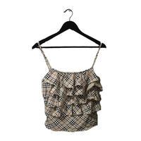 Burberry check design frill camisole