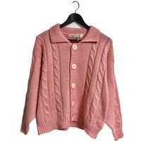 【スペシャルプライス】cable knit cardigan pink