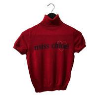 Chloé high necked logo knit red