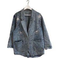 light blue bijou denim jacket