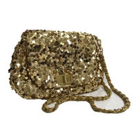 span coal design shoulder bag gold