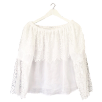 lace off shoulder blouse white