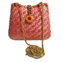 pink basket  chain shoulder bag