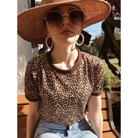 piping leopard tee
