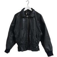 gather design leather blouson