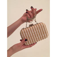 straw design chain bag