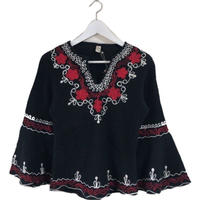 cord design bell sleeve tops