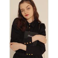 é button blouse black