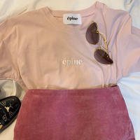 epine embroidery tee baby pink