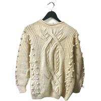 pon pon cable vintage knit