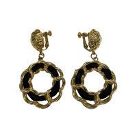 chain motif vintag earring(No.4237)
