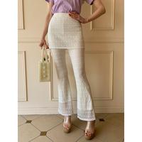 lace  skirt pants