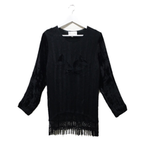 velour fringe tops