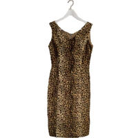 leopard fur one-piece