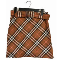 burberry  high-waist belt check skirt blown