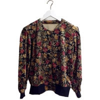 【スペシャルプライス】velour flower cardigan moss green