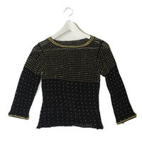 gold beads knit