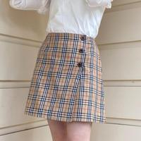 burberry check button skirt (No.4362)