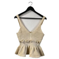 frill knit camisole