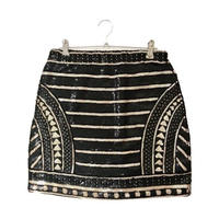 span design mini skirt