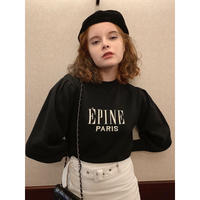 ÉPINE logo arm  volume knit black