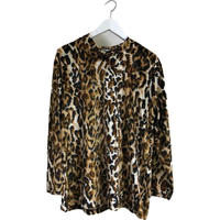 velour leopard tops