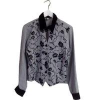 【スペシャルプライス】check velour design shirt