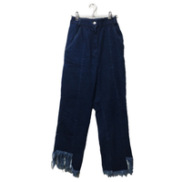 fringe denim BLUE