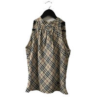 Burberry check design tops beige