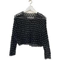 pearl design knit black