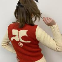 courrèges back logo knit jacket(No.2314)