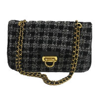 tweed chain bag