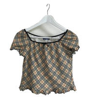 Burberry check frill tops