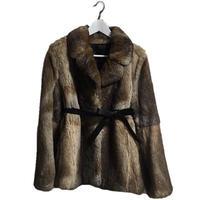 real rabbit fur design coat