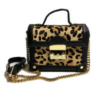 leopard harako design chain bag