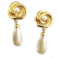 drop pearl  swing earrings