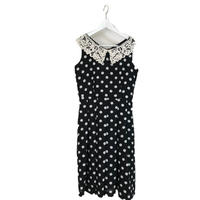 lace neck dot onepiece