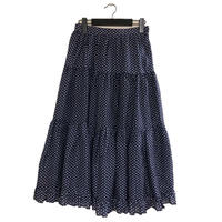 dot flare long skirt(No.1760)